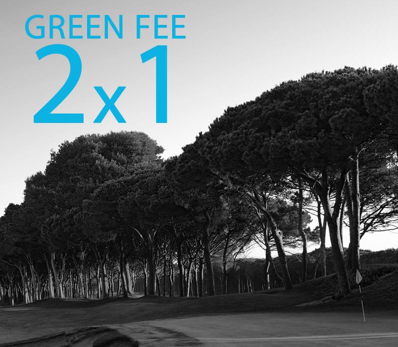 Take advantage of our promotion GREEN FEE 2x1!